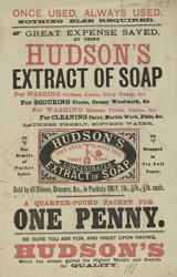 Advert for Hudson's Extract of Soap 5089